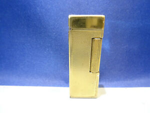 Dunhill Rollalite Automatik Benzin Feuerzeug in Gold - funktionsfähig -