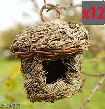 Qty 12 Chapelwood Bamboo Leaf Natural Hanging Roosting Nest Nesting Pocket (578)