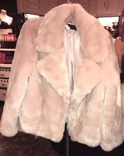 Victoria's Secret FAUX FUR COAT Jacket Pink  SZ L Gorgeous Brand New Release