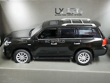 RC 1/14 Radio Control Truck LEXUS 570 Toyota Land Cruiser W/ LED Lights BLACK