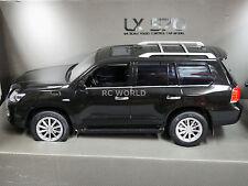 RC 1/14 Radio Control Truck LEXUS 570 Toyota Land Cruiser W/ LED Lights BLACK