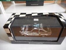 Minichamps Ford Escort II RS1800 RAC Rally 1975 in White/Black on 1:43 in Box