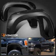 2007-2013 GMC Sierra 1500 Bolt On Pocket Rivet Style Smooth Fender Flares 4PC