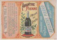 """ABSINTHE PIERRE"" Etiquette-chromo originale fin 1800"