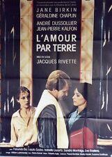 """""""L'AMOUR PAR TERRE"""" Affiche originale (Jacques RIVETTE / Jane BIRKIN)"""