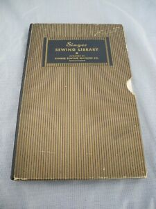 ANTIQUE BOXED SET OF THE SINGER SEWING LIBARARY 1930