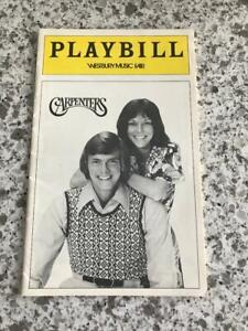 Karen Carpenter; The Carpenters; Richard Carpenter; Carpenters; Playbill; Rare