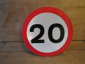 Small 20 MPH speed limit road sign 30 cm diameter. traffic sign.street sign