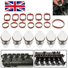 6x 33mm for BMW Diesel Swirl Blank Flaps Repair & Delete KIT w/ Intake Gasket UK