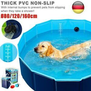 Faltbar Hundepool Planschbecken Schwimmbecken Schwimmbad Hundebad Ø80/120/160 cm