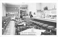 Warren Pennsylvania~Penn Restaurant~Diner Interior~Lunch Counter~1956 B&W PC