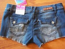 Almost Famous Destructive Denim Shorts Size 5 Brand New