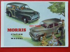 POSTCARD  ADVERTISING - MORRIS STATION WAGONS MOTOR CARS