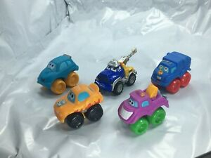 Tonka Trucks Lot of 5 Toy small - Plastic Tow, Garbage Race 1 metal Tow +Generic