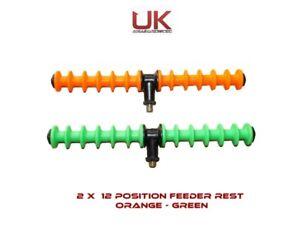 UKAS 12 Position Feeder Rod Rest x - Designed for All Tip Work - 2 Pack