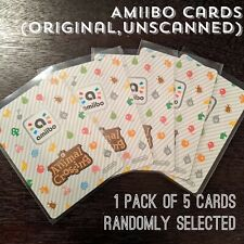 Animal Crossing Amiibo Cards, Pack Of 5 (+) Random Series 1, 2, 3, 4. Unscanned