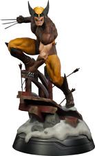 Wolverine Brown Costume Premium Format Sideshow Statue Logan masked & unmasked