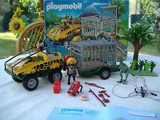 Playmobil amphibie véhicule avec dinasaur (4175) coffret