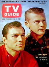 TV Guide 1963 Route 66 George Maharis Martin Milner Bette Davis #513 EX/NM COA