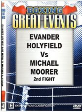 EVANDER HOLYFIELD VS MICHAEL MOORER 2ND FIGHT + TIOZZO VS MILLER  BOXING DVD