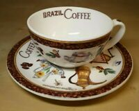 Roy Kirkham - Coffee Inspired Design Cup & Saucer Set Collectable Cup