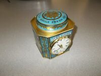 Coffee tin decorative clock Ocean Queen John Moore & Sons battery working