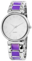 Excellanc Damenuhr Silber Lila Arabische Ziffern Quarz Armbanduhr X-RP4682380011