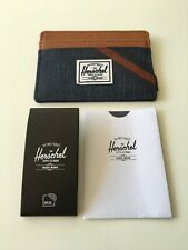 New Herschel Supply Men's Street Style Card Holder Wallet RFID Protect Denim