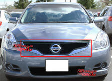 Fits 2010-2012 Nissan Altima Coupe Black Stainless Steel Mesh Grille Insert