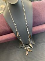"""Women's Ladies Necklace Mop Blister Pearl Dangle Charm Beaded 36""""sweater Style"""