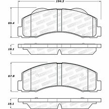 Disc Brake Pad Set-SSV Front Stoptech 309.14140