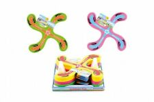 Rubber Flying 4 Point Boomerang 4 Assorted Colours