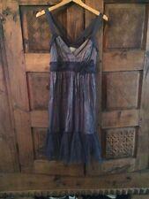 Moulinette Soeurs Sz 6 Gray Ruffled Hem Dress Summer Evening
