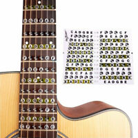 KE_ BL_ Fretboard Fret Map Acoustic Electric Guitar Note Scales Stickers for B
