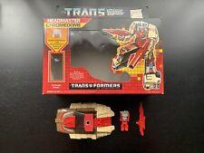 Vintage 1986 Transformers G1 Chromedome Headmaster Stylor Package Hasbro Takara