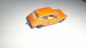 rare voiture majorette fiat 127 orange made in France