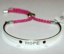 Brighton HOPE Color Cast Pink Swarovski Crystal Braided Rope Bracelet MSRP $44