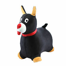 Chromo Bouncy Hopping Toy Cute Dog Inflatable Jumper w/ Washable Plush Cover