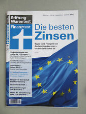 Finanztest Heft 1/2016 Stiftung Warentest Januar 2016
