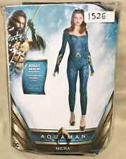 Woman's Dc Aquaman Mera Costume - Brand New, Adult Medium 6-8 Catsuit/Bodysuit