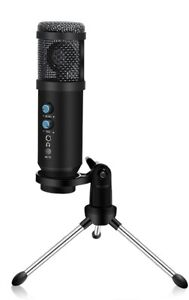 USB Professional Cardioid Microphone with Mute Button, Volume and Echo Control