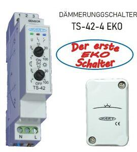 Dämmerungsschalter MART TS-42-4 -EKO Schalter-Morgen/Abend getrennt regelbar SBG