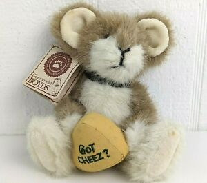 Boyds Bears Swiss C Mouski Mouse Got Cheez Jointed Plush Wisconsin 91670
