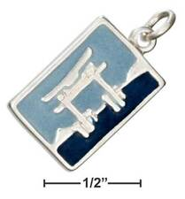 Genuine .925 Sterling Silver Enamel Japan Post Card Charm
