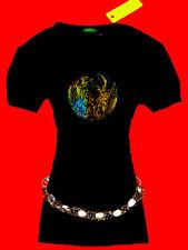 UNITED COLORS OF BENETTON SHIRT ROMANTIK BoHo GOTHIC SCHWARZ M 36 38 NEU!! TOP!!