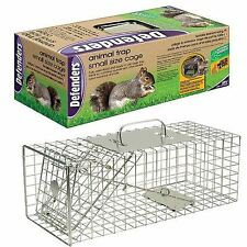 Defenders Animal Trap Cage Dog Cat Steel Cage Sturdy 44 x 19 x 19 cm Small Size