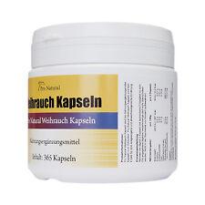 365 Kapseln 100% Weihrauch Boswellia serrata , Boswelliasäure 80% Mega Dose !!!