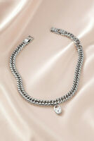 Stella & Dot Heart Lock Necklace Silver - StellaDot Necklace  For Women