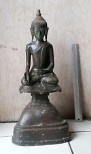 """MAGNIFICENT  Mandalay Period Bronze  Calling Earth to Witness Chan Buddha 18"""""""