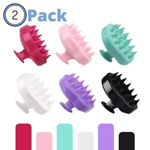 2 Pack Hair Scalp Massager Shampoo Brush Exfoliating Shower Head Scrubber - US